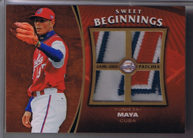 2006 Upper Deck Sweet Spot Update Yunieski Maya Game-Used Patch